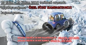 Aydemir Otomotiv 15 Ekim - 15 Kasım Özel Fiyat Kampanyası